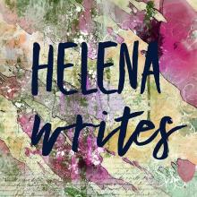 Helena Writes, Helena Clare Pittman's monthly Center column on her writing life, abstract watercolor